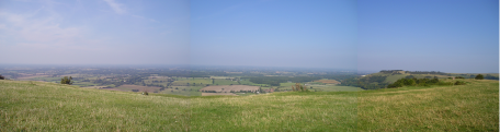 Panoramic view from Devils Dyke